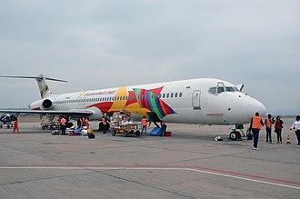Maya-Maya Airport - Canadian Airways Congo McDonnell Douglas MD-82 at Maya-Maya Airport, 2013