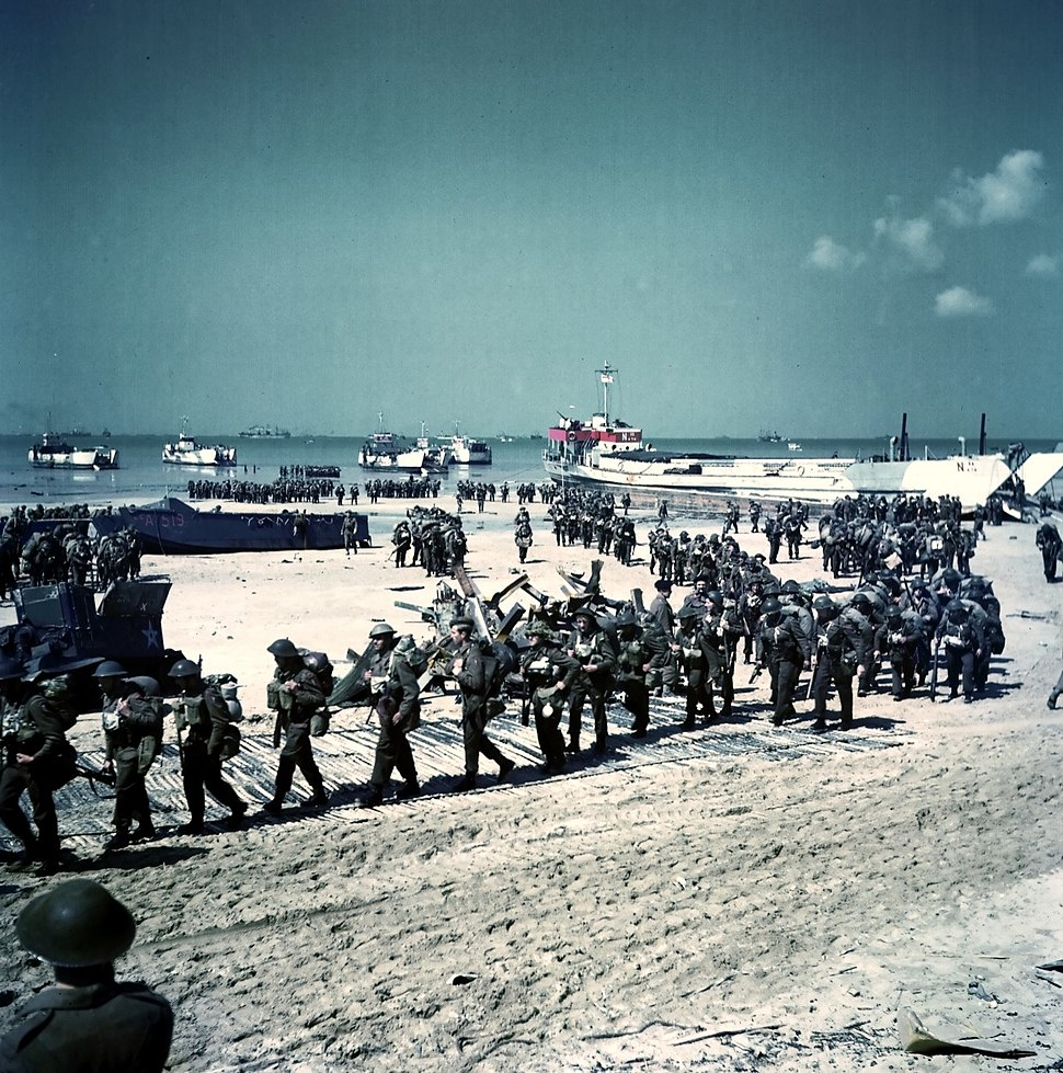 Canadian soldiers on Juno Beach