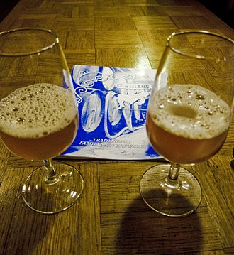 Seasonal beer - Gueuze lambic beer, produced by Cantillon Brewery