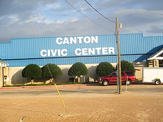 Canton, Texas - Canton Civic Center at 800 Flea Market Road hosts the First Monday Trade Days.