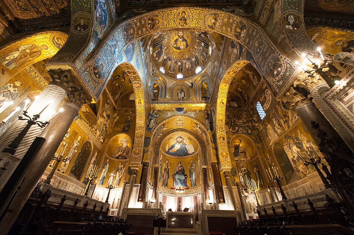 palatine muslim Muslims and jews were permitted to live by their own laws, and the jewel of sicilian architecture, roger's twelfth-century palatine chapel, .