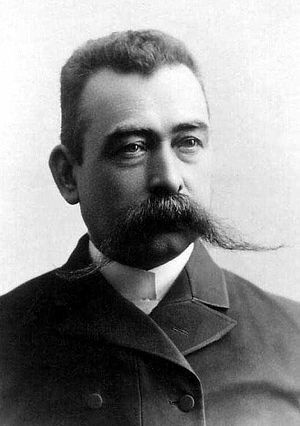 Handlebar moustache - Copenhagen wigmaker about 1893