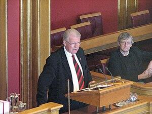 Carl I. Hagen - Carl I. Hagen speaking in the Storting in February 2009.