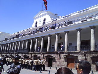 UNESCO - Carondelet Palace, Presidential Palace – with changing of the guards. The Historic Center of Quito, Ecuador, is one of the largest, least-altered and best-preserved historic centers in the Americas. This center was, together with the historic centre of Kraków in Poland, the first to be declared World Heritage Site by UNESCO on 18 September 1978.
