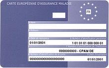 Photo de la carte européenne d'assurance maladie.