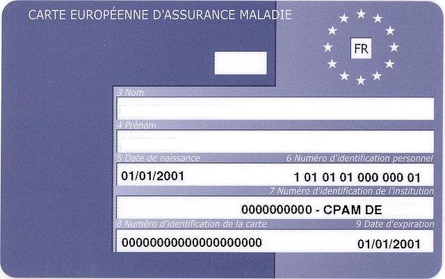 carte européenne d assurance maladie File:Carte Européenne d'Assurance Maladie France.   Wikimedia