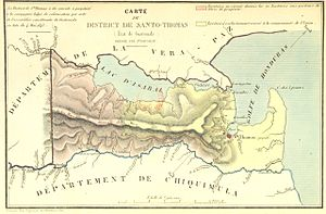 Santo Tomás de Castilla - Image: Carte du District de Santo Thomas (Etat de Guatemala)