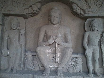 Carved Relief in Kanheri Caves.jpg