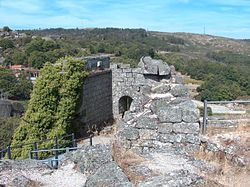 The ruins of the Castle of Pena de Aguiar
