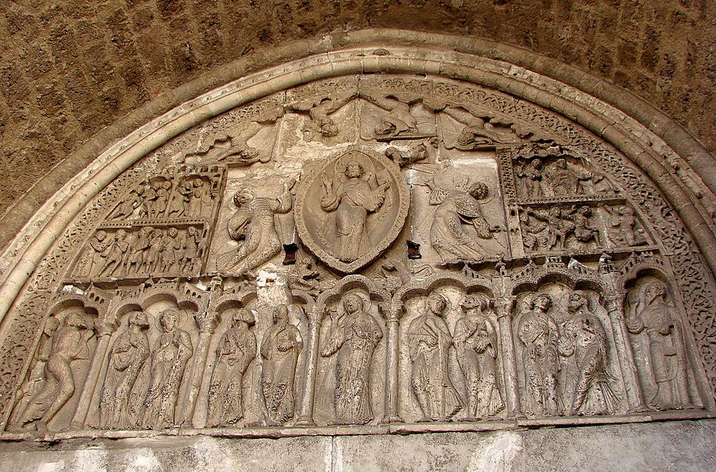 Тимпанум кафедрального собора Сен-Этьен в Каоре - Cathédrale de Cahors (Кафедральный собор Каора)