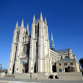Cathedral of the Most Blessed Sacrament - Image: Cathedral of the Most Blessed Sacrament (Detroit, Michigan) exterior