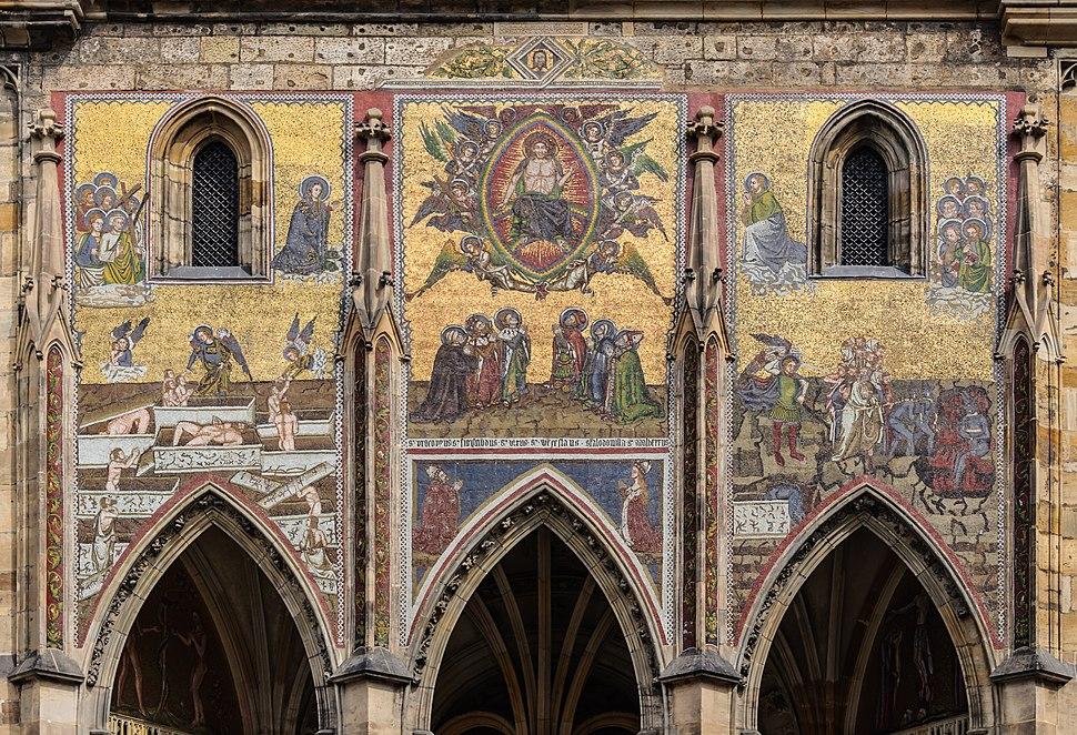 Cathedrale Saint-Guy Prague facade sud mosaique Jugement dernier