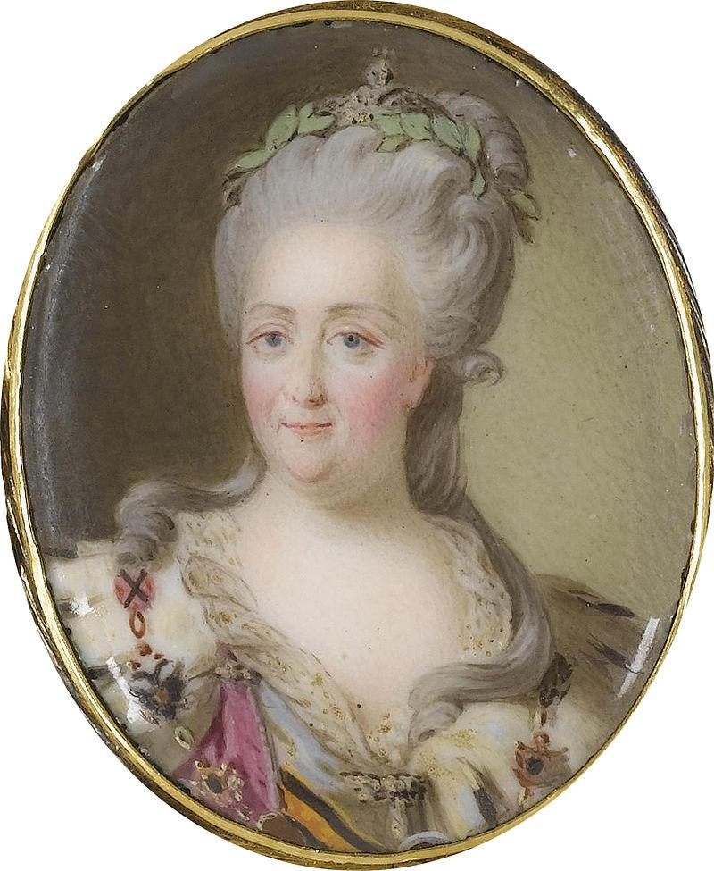 Екатерина II после Лампи (18 в., Част. Колл) .jpg