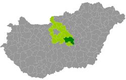 magyarország térkép cegléd Ceglédi járás – Wikipédia magyarország térkép cegléd