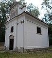 Celli Szűz Mária kápolna, északi sarok, 2018 Majkpuszta.jpg