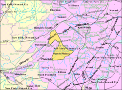 Census Bureau map of Scotch Plains, New Jersey