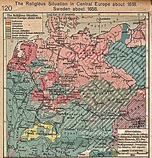 Margraviate of Brandenburg - Image: Central Europe religions 1618