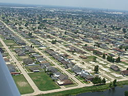 View of Chalmette residential area