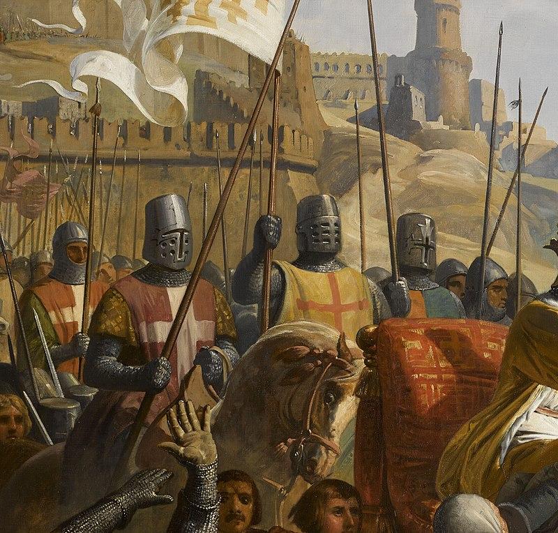 Charles-Philippe Larivière - detail of Battle of Ascalon, November 18, 1177.jpg