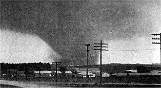 Tornado outbreak of May 1968 - An F5 tornado near Charles City, Iowa on May 15, 1968