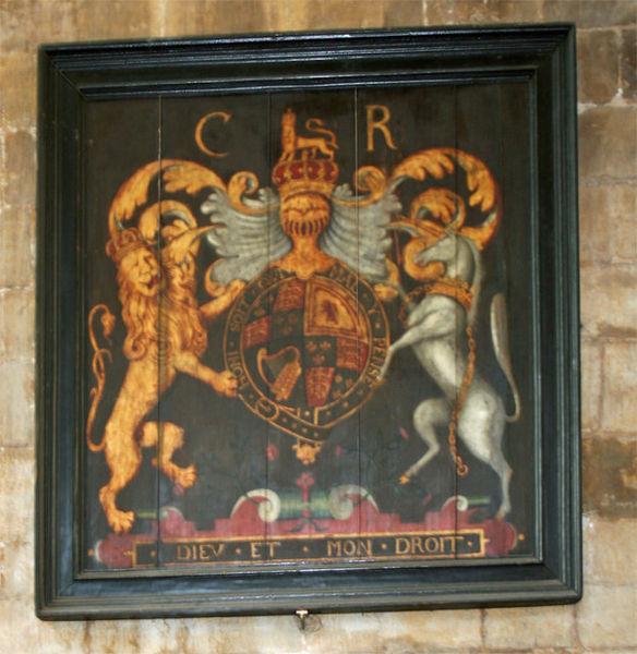 File:Charles II arms - Beverley Minster.jpg