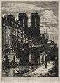 Charles Meryon - Etchings of Paris- The Little Bridge - 1954.881 - Cleveland Museum of Art.tif