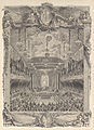 Charles Nicolas Cochin II, Decoration de la salle de spectacle construite a Versailles pour la representation de la Princesse de Navarre, ca. 1745.jpg