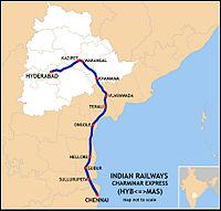 Charminar Express (HYB-MAS) Route map.jpg