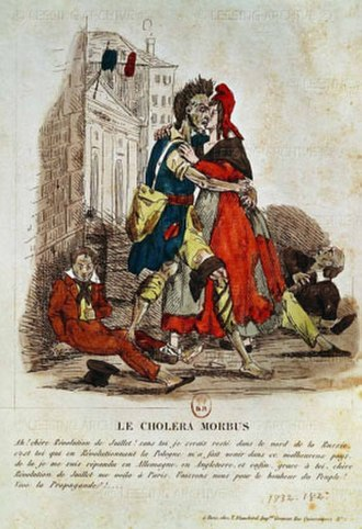 1826–1837 cholera pandemic - A French caricature from 1830
