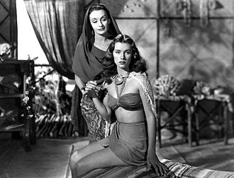 Linda Christian - Christian and the Mexican actress Andrea Palma in Tarzan and the Mermaids in 1948.
