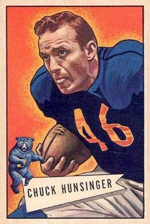 Chuck Hunsinger - Hunsinger on a 1952 Bowman card