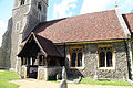 Church of St Christopher, Willingale, Essex, England - exterior south porch and nave.JPG