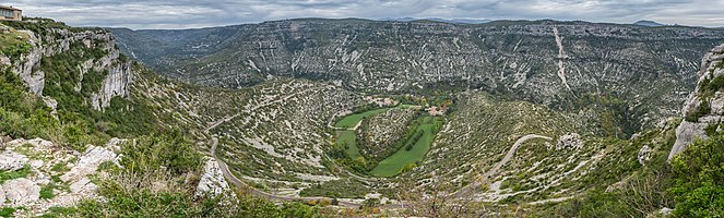 Cirque de Navacelles in the Massif Central, South of France