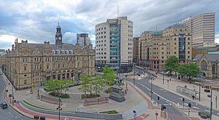 City Square, Leeds square in Leeds, United Kingdom
