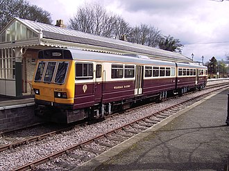 Weardale Railway - A class 141 railbus forms the majority of passenger services on the Weardale Railway; here 141103 is pictured at Stanhope station in early 2008
