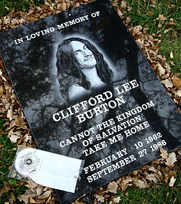 Clifford Burton Memorial Stone At Crash Site.jpg