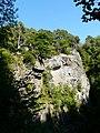 Cliffs on woodland walk at Foyers - geograph.org.uk - 949796.jpg