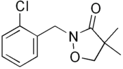 Skeletal formula of clomazone