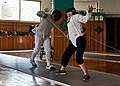 Close encounter between the Epee fencer Anna Panagiotakopoulou and her opponent.jpg
