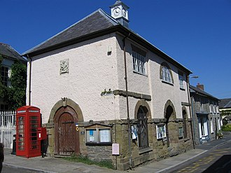 Clun - The Town Hall, now a museum, by The Square