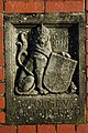 Coat of arms on a gate post, Pershore - geograph.org.uk - 1058774.jpg