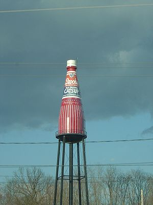 "The Brooks Catsup Bottle Water Tower, ""Th..."