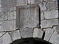 Colmars - Porte de France, inscription commémorative de François Ier.JPG