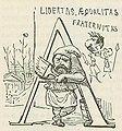 Comic History of Rome p 289 Initial A Libertas Aequalitas Fraternitas.jpg