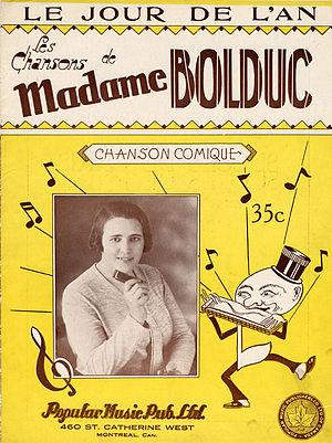 La Bolduc - Sheet music for Le Jour de l'An