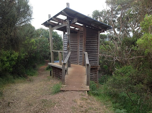 Camping Composting Toilet : File:compost toilet at johanna beach great ocean walk hikers
