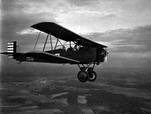 104th Fighter Squadron - A Consolidated O-17 assigned to the Maryland National Guard's 104th Observation Squadron during a mission on 11 September 1931.
