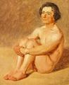 Constantin Hansen - En siddende lazzaron - 1838.png