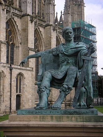 Traditors - Sculpture of Constantine I in York, England.