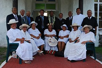 House of Ariki - Arikis at the opening of the 39th Annual General Meeting of the House of Arki in December 2010 (Cook Islands Herald).
